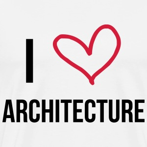 I Love Architecture  Aprons - Men's Premium T-Shirt