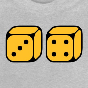 Dices With Number 3 and 4 (2C) Shirts - Baby T-Shirt