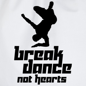 Break Dance Not Hearts (Vector) - Drawstring Bag