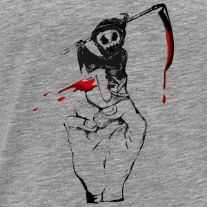 A Grim Reaper as a finger puppet Tops - Men's Premium T-Shirt