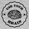 Use Your Brain - Funny Statement / slogan Caps & Hats - Men's Vintage T-Shirt