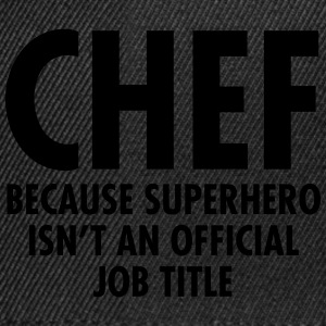 Chef - Superhero T-shirts - Snapback cap