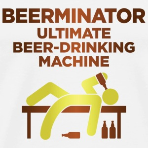 De Beerminator. Ultimate Drinking Machine! Baby body - Mannen Premium T-shirt
