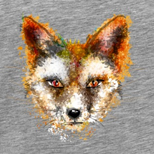 A fox's head in watercolor style Sports wear - Men's Premium T-Shirt