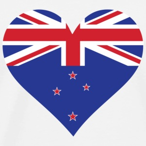 A heart for New Zealand Sports wear - Men's Premium T-Shirt
