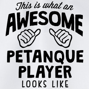 awesome petanque player looks like - Drawstring Bag