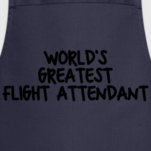 worlds greatest flight attendant - Cooking Apron