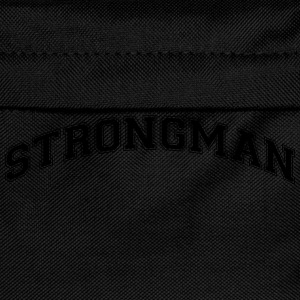 strongman college style curved logo - Kids' Backpack