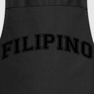 filipino  college style curved logo - Cooking Apron