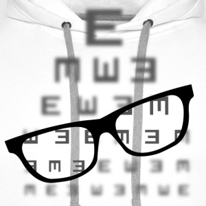 Vision screening with glasses T-Shirts - Men's Premium Hoodie