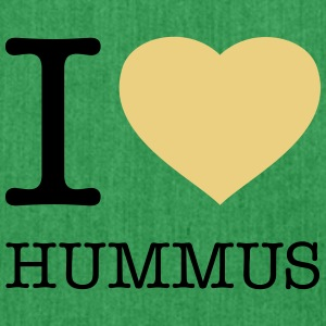 I LOVE HUMMUS - Schultertasche aus Recycling-Material