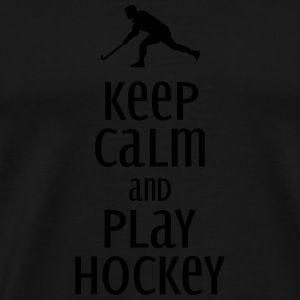 keep calm and play hockey Tank Tops - Camiseta premium hombre