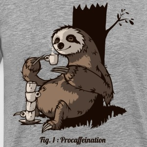 Heather grey Procafeination T-Shirts - Men's Premium T-Shirt