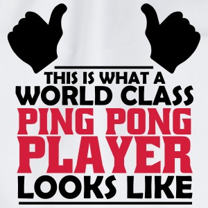 world class ping pong player T-Shirts - Drawstring Bag