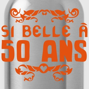 50 ans anniversaire si belle fioriture Tee shirts - Gourde