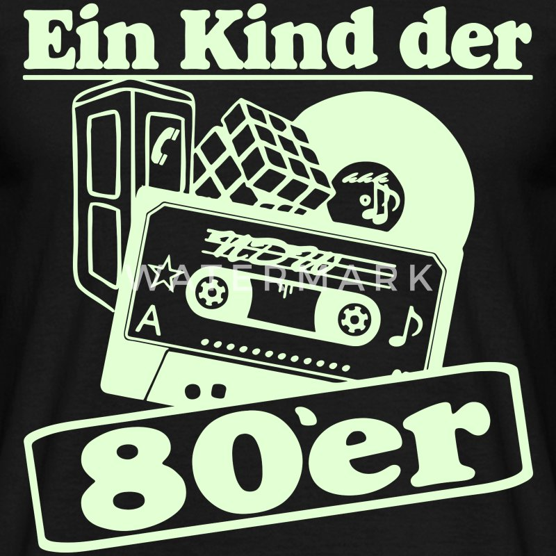 Ein kind der 80er 80er jahre party 80er witzig t shirt for Accessoires 80er party