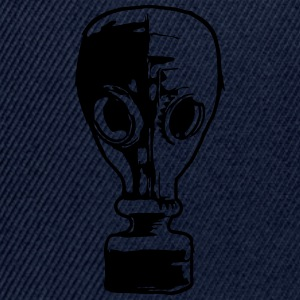 gas mask cool design 1 filter T-Shirts - Snapback Cap
