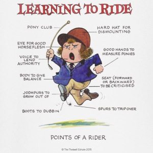 Thelwell - Learning to ride T-Shirts - Baby Langarmshirt