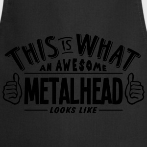 awesome metalhead looks like pro design t-shirt - Cooking Apron