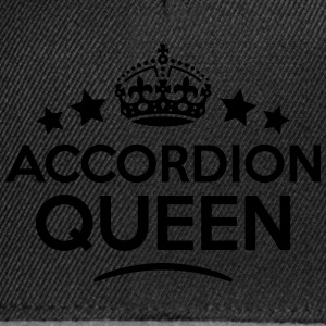 accordion queen keep calm style WOMENS T-SHIRT - Snapback Cap