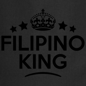 filipino  king keep calm style crown sta T-SHIRT - Cooking Apron