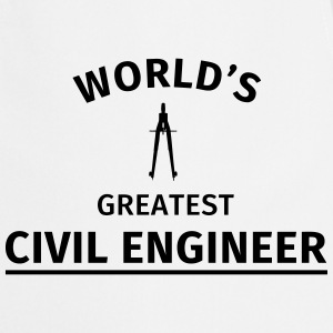 World's greatest civil engineer Tee shirts - Tablier de cuisine