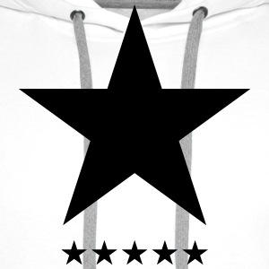 Blackstar, star, hero, music, rock, space, galaxy Magliette - Felpa con cappuccio premium da uomo