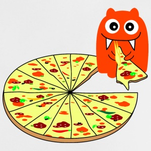 Monster Pizza Babero bebés - Camiseta bebé
