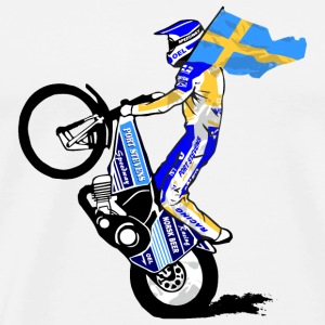 Speedway Driver - Sweden Mugs & Drinkware - Men's Premium T-Shirt