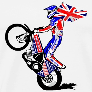 Speedway Driver - United Kingdom Mugs & Drinkware - Men's Premium T-Shirt