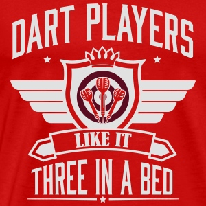 Dart players like it 3 in a bed Tank Tops - Camiseta premium hombre