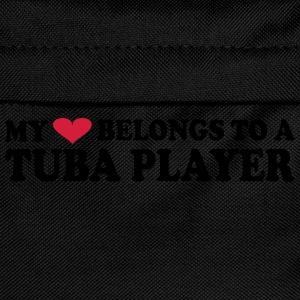MY HEART BELONGS TO A TUBA PLAYER T-shirts - Rugzak voor kinderen