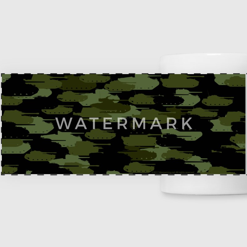 World of Tanks Tank Camouflage tasse - Tasse panorama