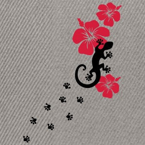 Gecko, Lizard, flower, surf, aloha, sports, wave,  T-shirts - Snapbackkeps