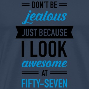 Awesome At Fifty-Seven Sports wear - Men's Premium T-Shirt