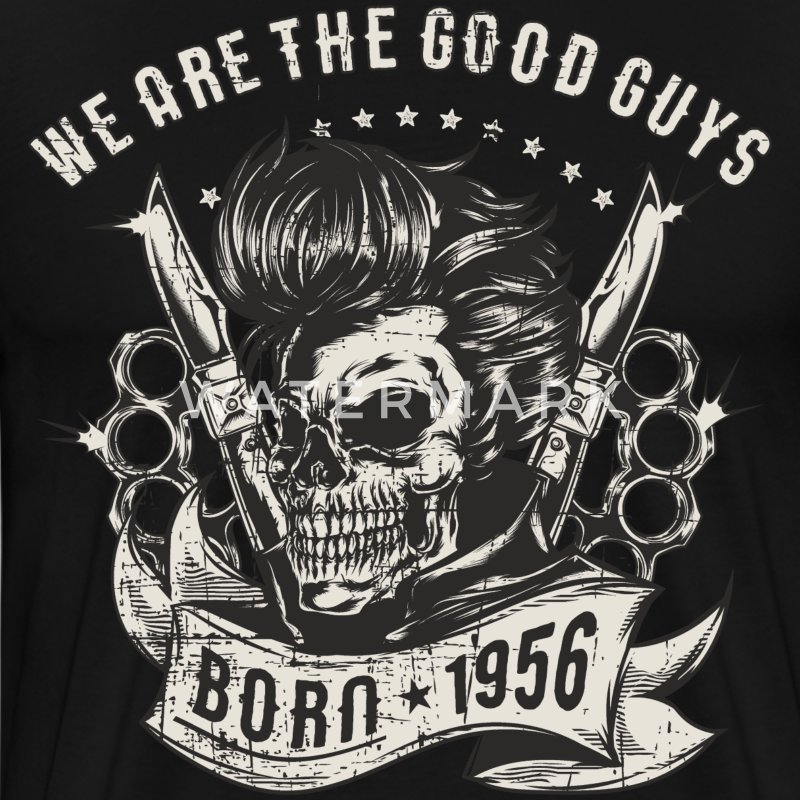 SSD Rockabilly we are th Good Guys 1956 RAHMENLOS Geburtstags Motiv Biker Rocker Trucker T-Shirts - Männer Premium T-Shirt