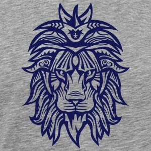 lion super tribal gueule roi jungle Vêtements de sport - T-shirt Premium Homme