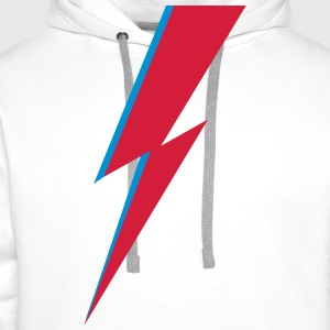 flash, music, rebel, Bowie, hero, space, blackstar Magliette - Felpa con cappuccio premium da uomo