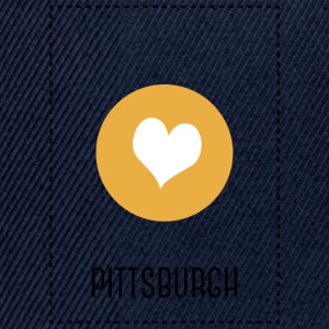 I Love Pittsburgh Manga larga - Gorra Snapback