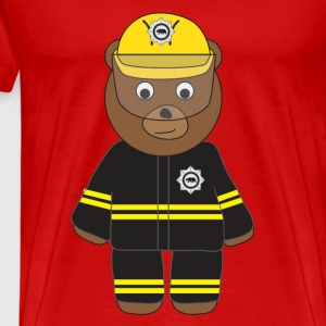 Firefighter Bear tank - Men's Premium T-Shirt