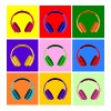 Pop Art Kopfhörer, Pop Art Headphones Baby Bibs - Women's Premium T-Shirt