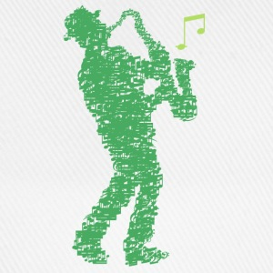 saxophone_player_made_of_notes_09201605 Baby Bodys - Baseballkappe