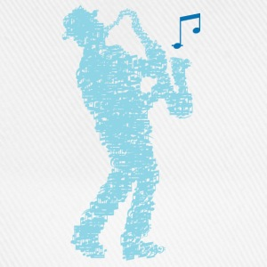 saxophone_player_made_of_notes_09201606 Baby Bodys - Baseballkappe