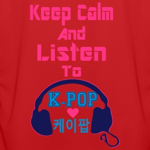 ♥♫Keep Calm&Listen to KPop Kids' Hoodie♪♥ - Men's Football Jersey