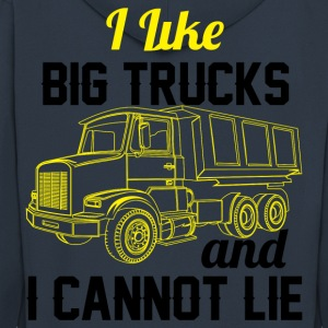 I Like Big Trucks & I Cannot Lie  T-Shirts - Men's Premium Hooded Jacket