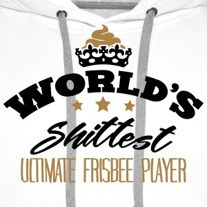 worlds shittest ultimate frisbee player - Men's Premium Hoodie