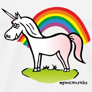 Unicorn and Rainbow Sportkleding - Mannen Premium T-shirt