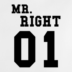 MR. RIGHT! (Partner skjorte 2of2) Babysmekke - Baby-T-skjorte