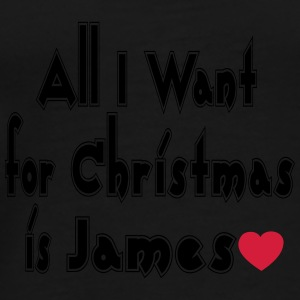↷♥All I want for Christmas is James Tote Bag - Men's Premium T-Shirt