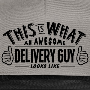 awesome delivery guy looks like pro desi - Snapback Cap